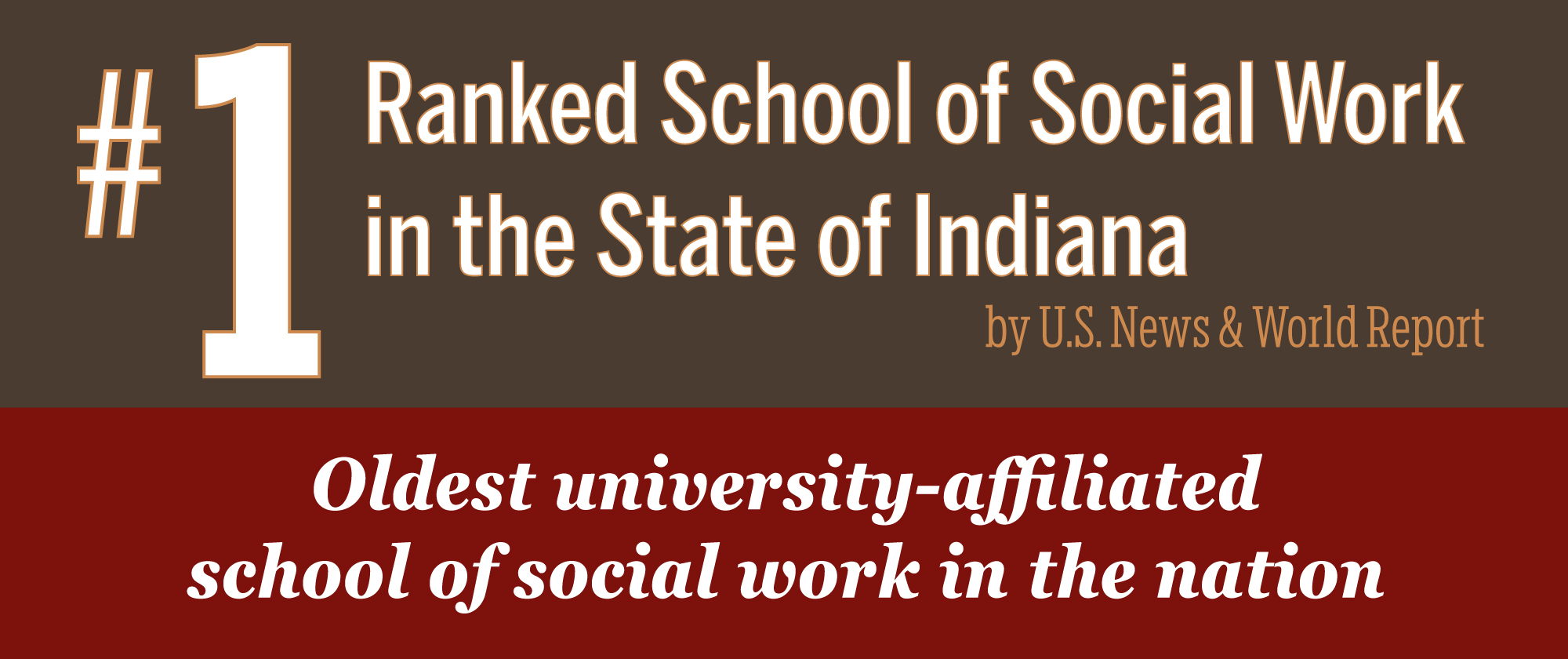 Ranked #1 School of Social Work  in the State of Indiana